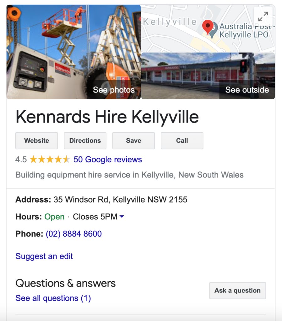 Google-My-Business-Example-Kennards-Hire